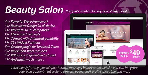 Beauty Salon v3.6.2 - Responsive WordPress Template